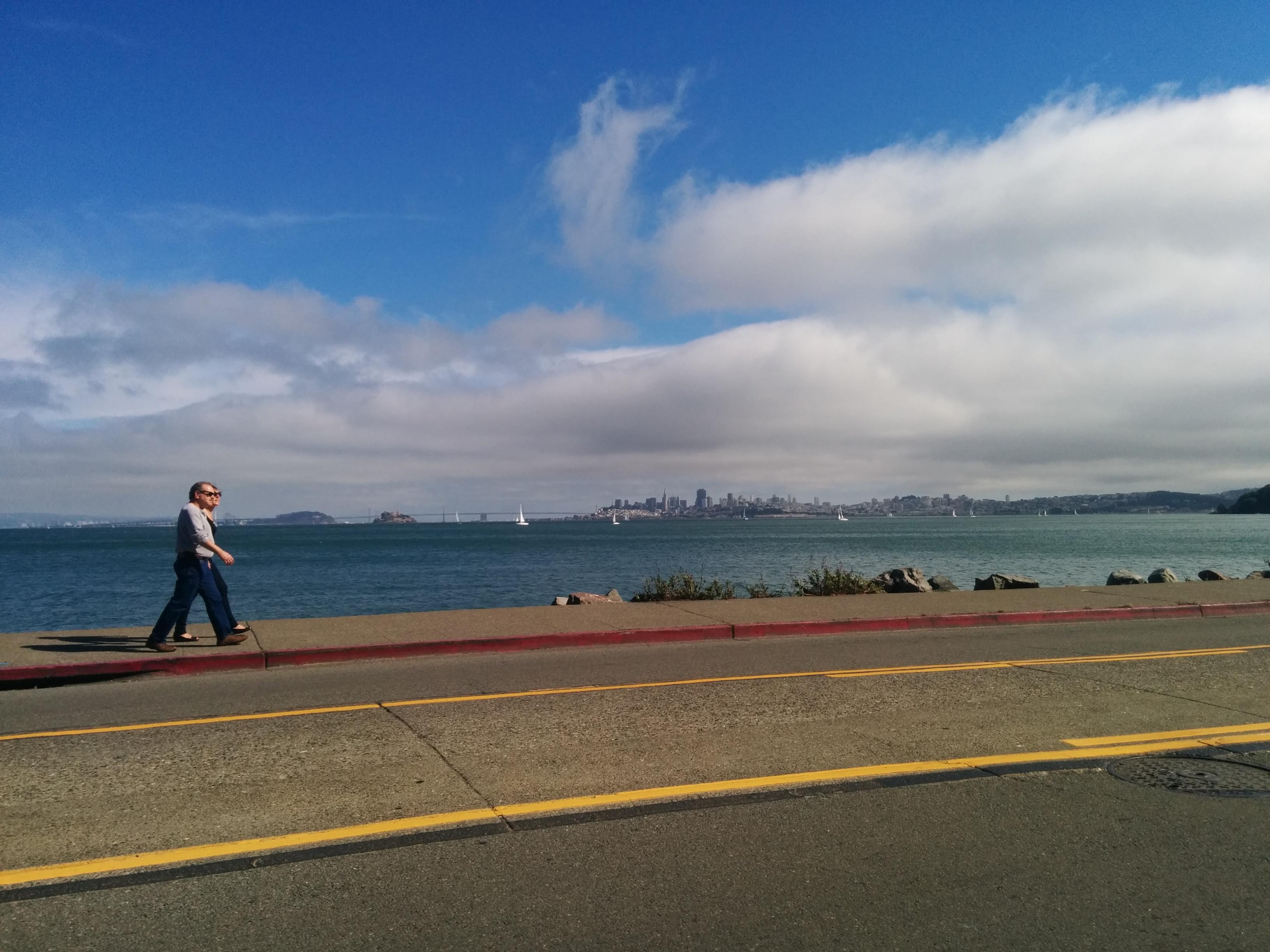 Blick von Sausalito auf SF