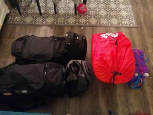 Komplettes Gepäck für 3 Personen