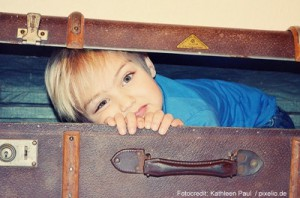 Kid in suitcase