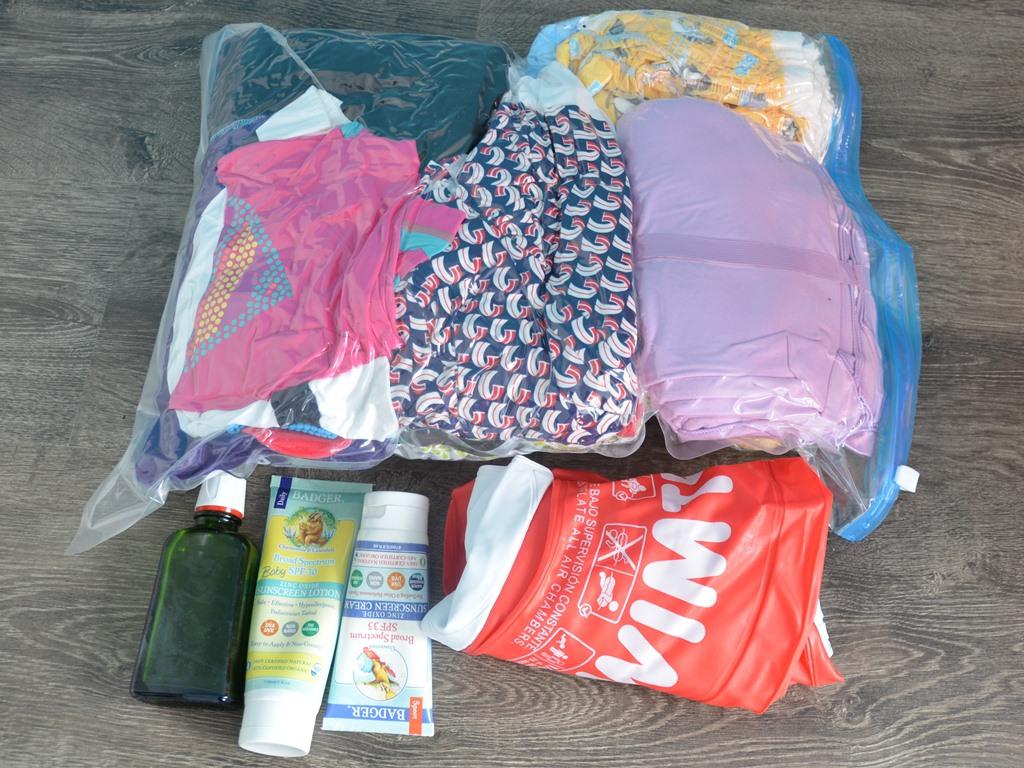 Strandtasche kompremiert